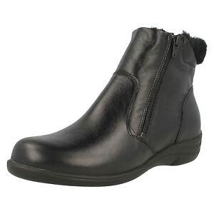 'shona' Ankle Boots Ladies Black Padders 8tww5