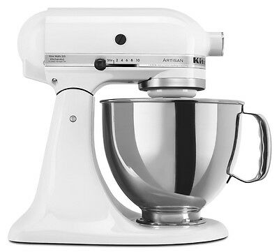 KitchenAid Stand Mixer tilt 5-Quart r-rk150wh All Metal Tilt Artisan white