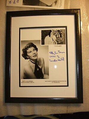 Cruella de Vil Hand Signed Betty Gerson Disney Voice 101 Dalmatians New Frame