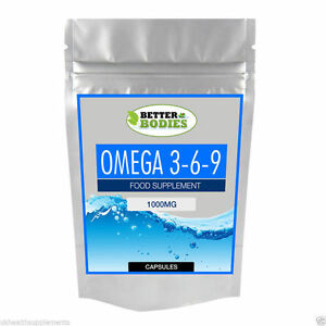 Omega-369-1000mg-ad-alta-resistenza-Olio-di-Pesce-EPA-DHA-Soft-Gel