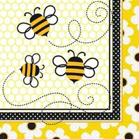 BUSY BEES Party 16 Luncheon NAPKINS (Party/Tableware/Birthday)