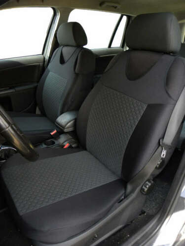 2 Grey Dots Pattern Front Vest Car Seat Covers Protectors For Honda Civic