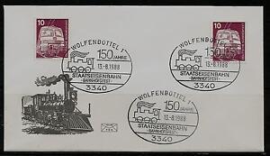 """BRD Brief MiNr 847 Industrie und Technik (I) """"125 Jahre Staatseisenbahn 13.8.88"""" - Bad Pyrmont, Deutschland - BRD Brief MiNr 847 Industrie und Technik (I) """"125 Jahre Staatseisenbahn 13.8.88"""" - Bad Pyrmont, Deutschland"""