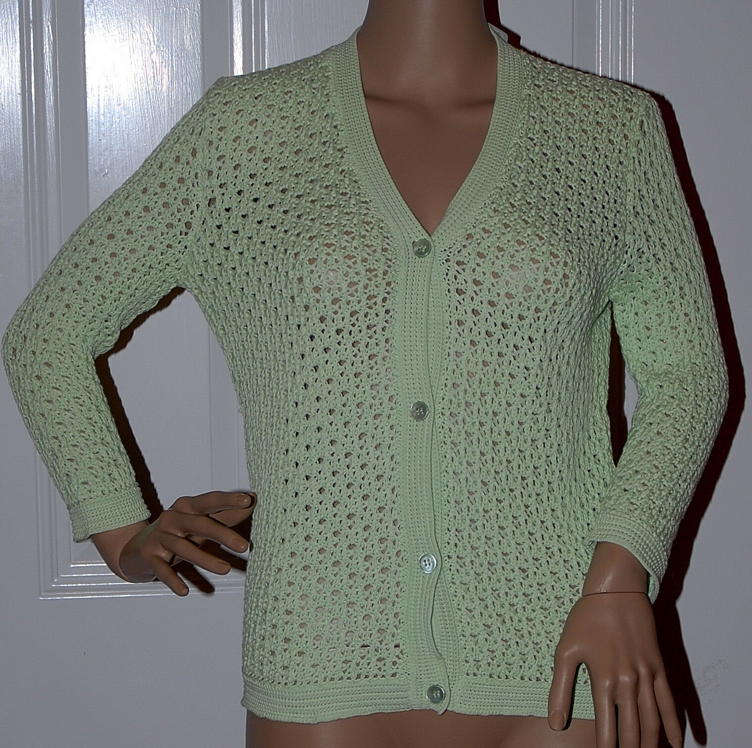 New  1270.00 Jil Sander Mint Green Cardigan Sweater NWT NWT NWT Luxury 36 Made in  4608c4