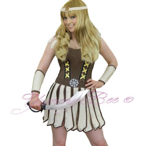 Fancy Dress Costume Princess Gladiator Roman Warrior Women Plus Size 6-16 SWORD