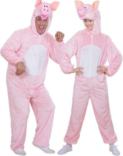 Herren Karneval Fasching Verkleidun Tierisches Schwein Plüschkostüm unisex NEU