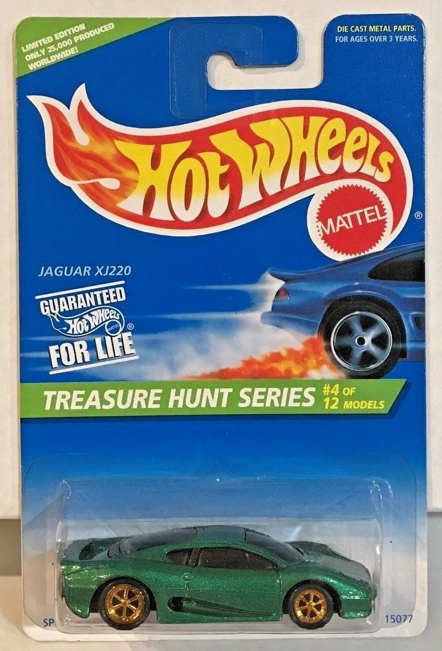 Hot Wheels 1996 Treasure Hunt - Green Jaguar XJ220 gold 6 spokes of 12 LE 25k