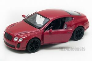 Bentley-Continental-Supersport-Rojo-Welly-Escala-1-34-39-Modelo-del-Coche-de-Juguete-Regalo