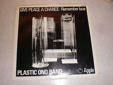 John Lennon 45/PICTURE SLEEVE Give Peace A Chance APPLE