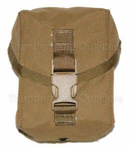 USGI-100-ROUND-UTILITY-POUCH-US-Military-MOLLE-II-SAW-Mag-Pouch-Coyote-Brown-NEW