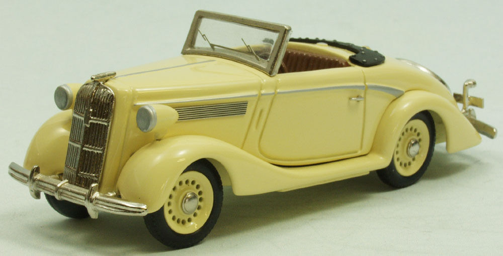 Opel Super 6 Cabriolet  Glasses  Model Car Handcrafted weissmetall 1 43 tw311-1