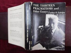 ARTHUR-O-LOVEJOY-THIRTEEN-PRAGMATISMS-amp-OTHER-ESSAYS-SCARCE-1963