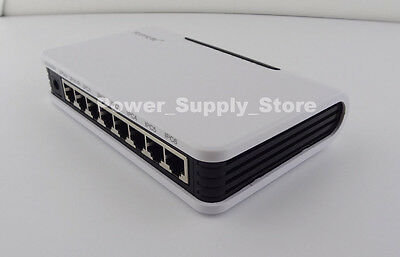 6 Port IEEE802.3af PoE Switch Power Adapter For CCTV Network POE IP Cameras