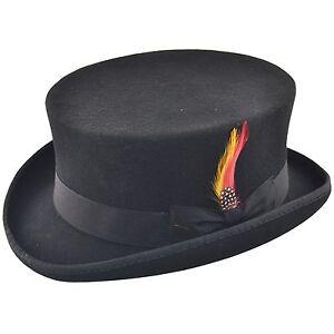 334d636cbd807 Deadman Short Topper Wedding Ascot Event 100% Wool Felt Top Hat with ...