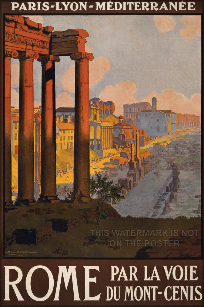 Plakat, Viele Größen ; Rom Reise Plakat - Kopie