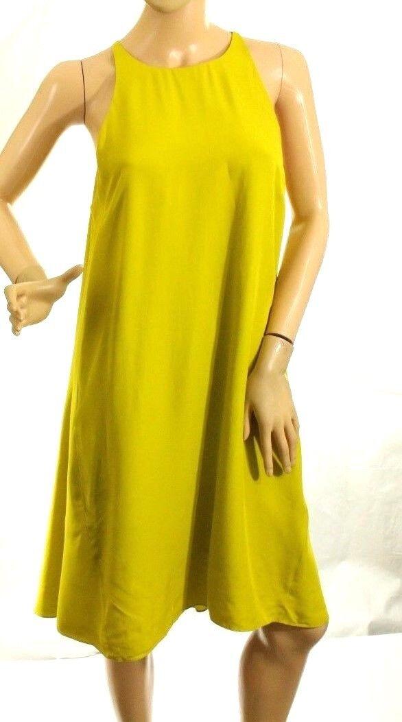 Rachel Roy Women's Green Olive High-Low Trapeze Dress Size M Retail