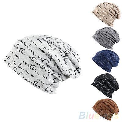 Mens Womens New Popular Hip-Hop Warm Winter Cotton Knit Ski Beanie Skull Cap Hat