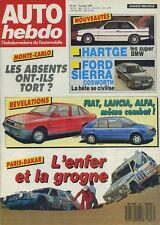 AUTO HEBDO n°607 du 13 Janvier 1988 BMW HARTGE FORD SIERRA COSWORTH