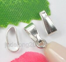 Wholesale 400pcs plated silver Necklace Connector Clip Bail 7mm NH1001