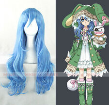 Anime DATE A LIVE Yoshino 70cm Long Blue Cosplay Party Full Wig + Free Wig Cap