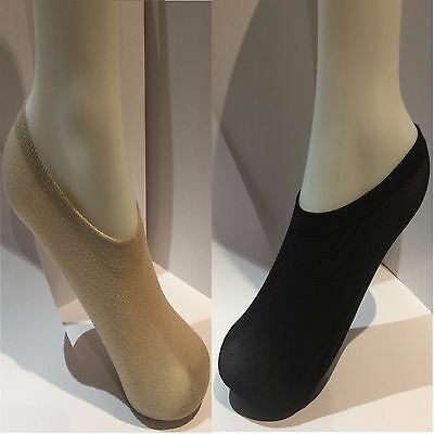 SHOE LINERS 2 PAIR PACK SIZE 4-7 IN NUDE LADIES 50/%COTTON-50/%NYLON FOOTSIES