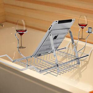 Mensola per vasca da bagno mensola portaoggetti acciaio - Supporto per vasca da bagno ...