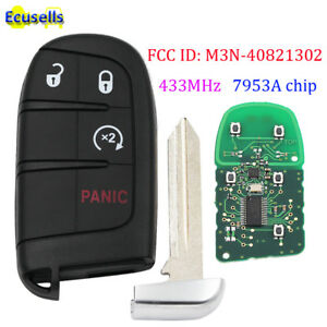4 Buttons Smart Remote Key Fob for Dodge Journey Durango 433MHz 7953A / 46 chip