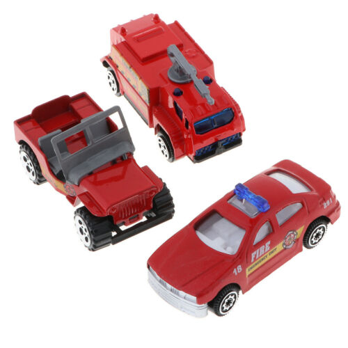 3 in 1 Assorted 1//64 Metal Fire Engine Car Truck Model Kids Vehicle Toy Kit