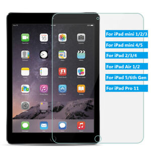 Tempered-Glass-Screen-Protector-For-iPad-2-3-4-6th-Air-Pro-9-7-034-10-5-034-mini-7-9-034