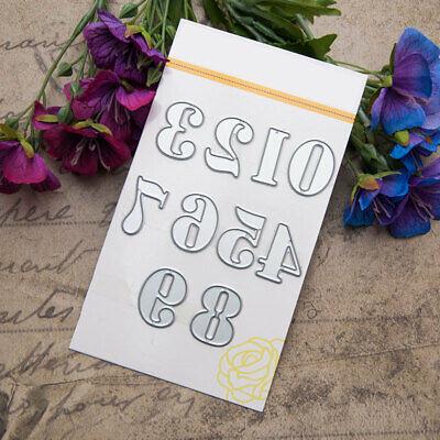 Stanz Zahlenschablone Cutting Dies Stencil Scrapbooking Album Tagebuch chablone