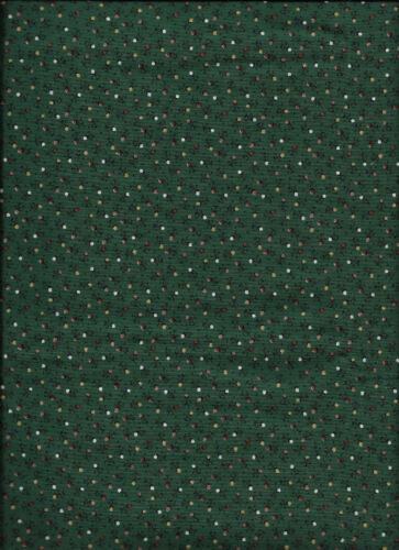 New Small Flowers on Dark Green 100/% Cotton Fabric by the Quarter Yard