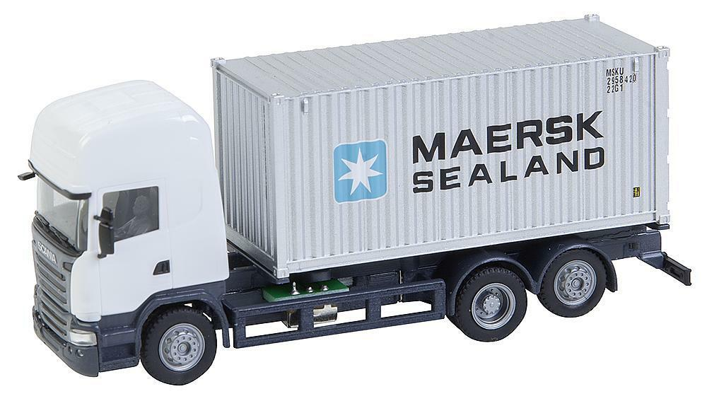 Faller h0 161598 CS SCANIA R 2013 TL cont. CAMION Maersk  Herpa  Nuovo/Scatola Originale