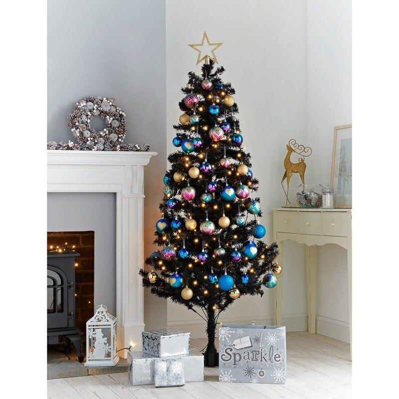 ColoreeeATO Nuovo di Zecca Albero di Natale Natale Natale 6ft 410 Punte Decorazione Casa-Nero d4e8b4