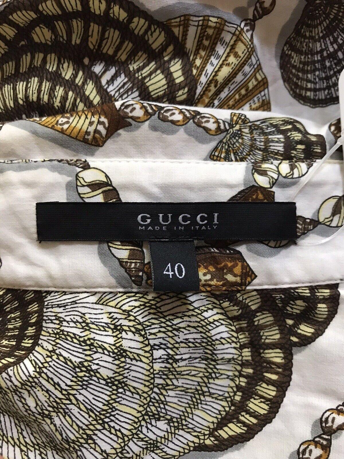 Rare Vtg Gucci White Seashell Print Top S - image 8