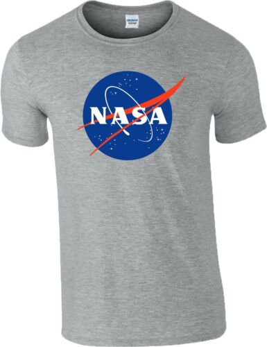 NASA T Shirt Logo Space Astronaut Geek Nerd Star Big Bang Theory Mens Kids Top