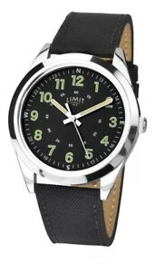 Limit-Gents-Military-Style-Watch-Black-Strap-amp-Black-Dial-5950