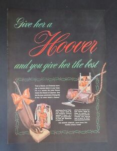 Original-Print-Ad-1948-HOOVER-Give-Her-the-Best-Christmas-Vintage-Art