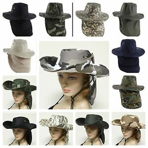 285be95f29c Image is loading Boonie-Fishing-Hiking-Summer-Military-Snap-Brim-Neck-