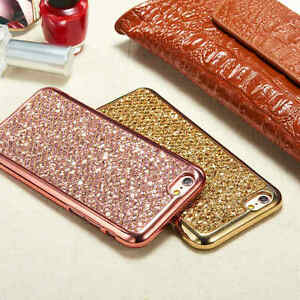 Luxe-Strass-Paillettes-Bling-Souple-Coque-TPU-Gel-housse-etui-Pr-iPhone-Samsung