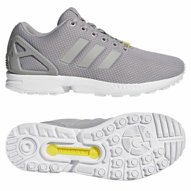 7092918f8d23c adidas ORIGINALS MEN S ZX FLUX TRAINERS GREY SNEAKERS SHOES RETRO 3 STRIPES