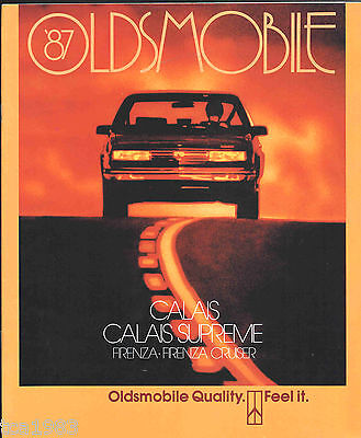 Kombi Broschüre/katalog GüNstiger Verkauf 1987 Oldsmobile Calais/supreme/firenza/ Gt Auto & Motorrad: Teile