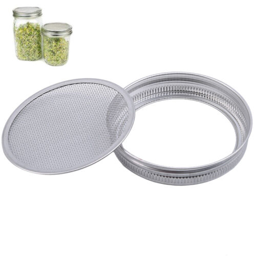 Fit Filter  Mason Wide Mouth Mason Jars Smoothies Sprouting Strainer Lid LO