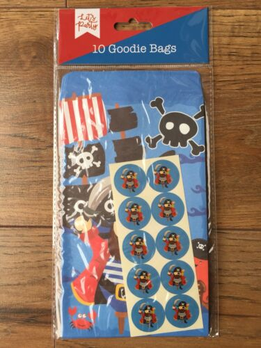 Pirate Goodie Bags with stickers  NEW  Birthday//Christening//Baby Shower Party