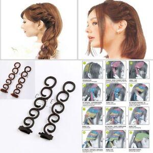 Braid Maintenance Fashion Women Lady Roller Hair Twist Styling Clip Stick Bun Maker Braid Tool Locks Weaves Hair Accessories