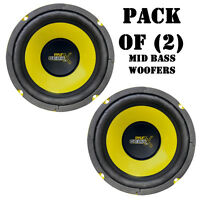 Pair Of Pyle Plg64 6.5 300 Watt, 4 Ohm, Mid Bass Power Woofers Car Audio System on sale