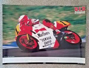 Vintage Original Poster 1988 Eddie Lawson Team Agostini Marlboro Yamaha YZR500