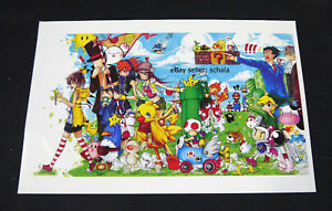 Details About Nintendo Ds Fan Art Fanart Print Mario Luigi Layton Chocobo Phoenix Wright More