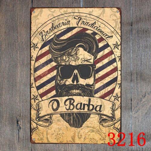 Metal Tin Sign barberia tradicional Decor Bar Pub Home Vintage Retro Poster