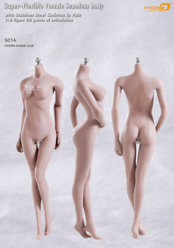 TBLeague Phicen1//6Female Seamless Body Doll Pale//Suntan Color w//Steel Skeleton@@