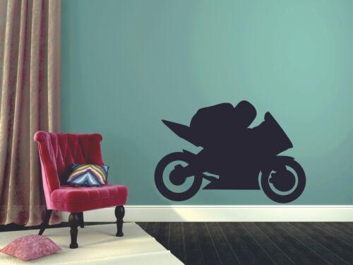 Motor Bike Sport Silhouette Vinyl Wall Art Decor Sticker for Home Room Decals